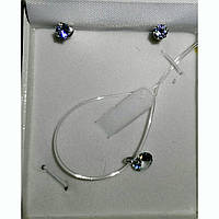 Подарунковий набір( сережки, підвіс, коробка)