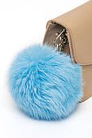 Брелок з натурального хутра (польський кролик) в п'яти кольорах. Блакитний.