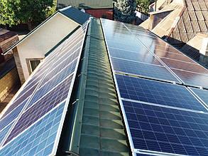 Солнечная установка после монтажа.