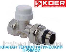 "Клапан термостатичний 1/2"" прямий М30*1.5 KOER"