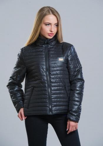 9ca2328ec97 Купить Демисезонная женская стеганая куртка (черный) 8268 Украина ...