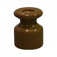 Керамический изолятор для ретро проводки [ Коричневый ], фото 1