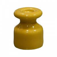 Керамический изолятор для ретро проводки [ Жёлтый ]