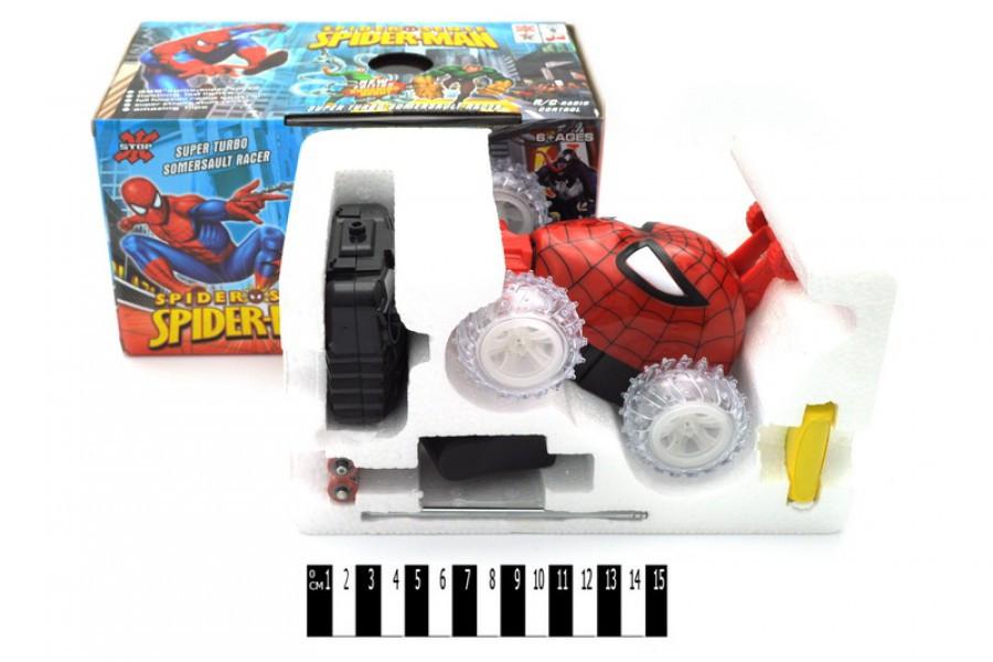 Машина перевертиш Спайдермен 0135А, машинка на радіокеруванні, звук, світло