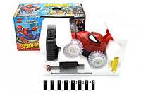 Машина  перевертыш Спайдермен 0135А, машинка на радиоуправлении, звук, свет