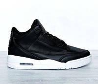 Air Jordan 3 Retro Cyber Monday   Black White   кроссовки мужские  кожаные   черно 7d9def3313a