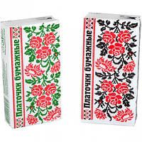 Салфетки-платочки бумажные, однослойные микс   КРА2м 40 штук
