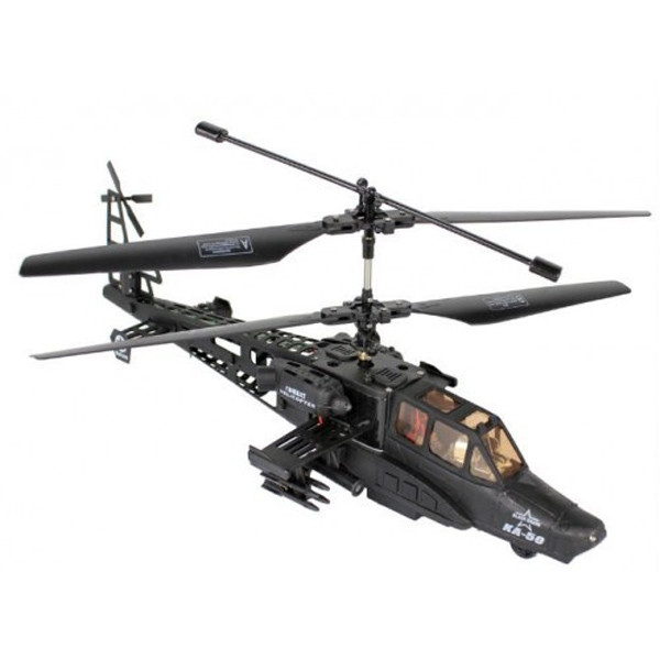 Радиоуправляемый вертолет Fei Hu Black Air Shark KA-50 с гироскопом