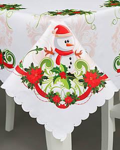 Новогодняя скатерть  Снеговик