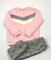 Костюм для девочки Стиль, розовый, двухнитка 11560 (р.4,5 лет)