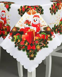 Новогодняя скатерть Снеговики