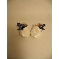Балетки белые перламутровые - одежда и обувь для кукол типа Baby Born