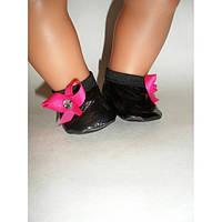 Балетки черные - одежда и обувь для кукол типа Baby Born