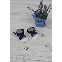 Босоножки джинсовые (розовый горошек) - одежда и обувь для кукол типа Baby Born