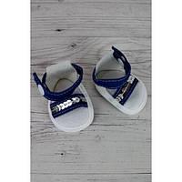 Босоножки джинсовые с пайетками - одежда и обувь для кукол типа Baby Born