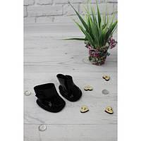Мокасины черные - одежда и обувь для кукол типа Baby Born