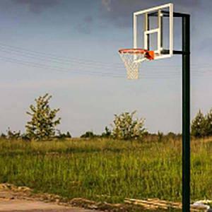 Стойка баскетбольная PlaySport (под щит 1200х900 мм. вынос 450-600 мм.), код: SS00082