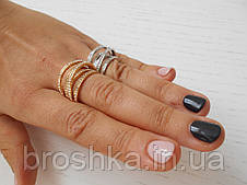 Многослойные кольца De Grisogono ювелирная бижутерия в лимонной позолоте, фото 2