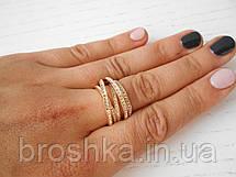 Многослойные кольца De Grisogono ювелирная бижутерия в лимонной позолоте, фото 3