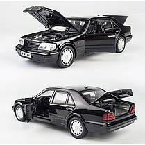 Машина металлическая Автопром 32014 Mercedes Benz W140, фото 3
