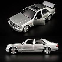 Машина металлическая Автопром 32014 Mercedes Benz W140, фото 2
