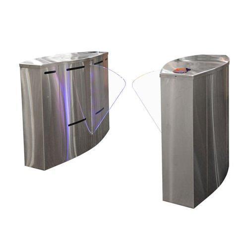 Турникет SPEEDBLADE-1 900, шлифованная нержавеющая сталь, столешницы - черное стекло, правая + левая стойки