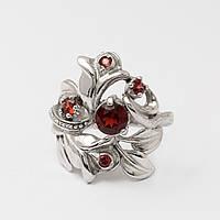 Серебряное кольцо с гранатом 2180420