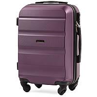 Микро пластиковый чемодан Wings AT01 на 4 колесах фиолетовый, фото 1