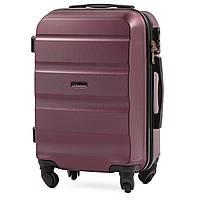 Микро пластиковый чемодан Wings AT01 на 4 колесах бордовый