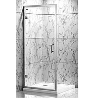 Душевая дверь VERONIS D-7 80х190 прозрачная - для установки в нишу или с боковой стенкой.