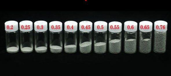 Шары для BGA реболлинга, 11 банок по 25000 шт ( от 0.2 до 0.76 мм)