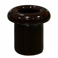 Керамический кабель-проход изолятор для ретро проводки [ Тёмно-коричневый ]