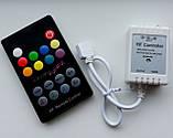 Контроллер (6А) музыкальный для RGB ленты с пультом (радио), фото 3
