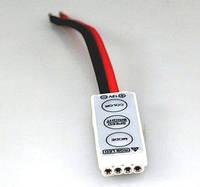 Контроллер RGB (5В/12В/24В)6А, 3 кнопки (без пульта)