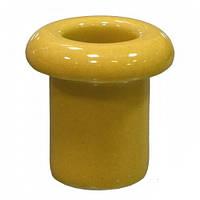 Керамический кабель-проход изолятор для ретро проводки [ Жёлтый ]