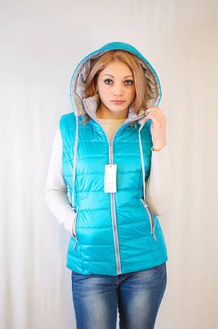 Красивая модная дешевая жилетка с капюшоном , фото 2