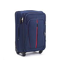 Большой тканевый чемодан Wings 1706 на 4 колесах синий