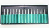 Набор алмазных боров (фрез, шарошек) для гравера. 30 шт. державка 3 мм