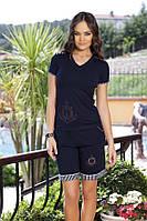 Женская пижама, костюм для дома футболка  и шорты Shirly 4529