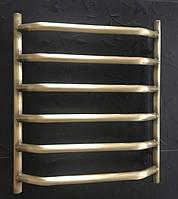 Бронзовый полотенцесушитель Ольха 06П 600*600 латунь АЗОЦМ