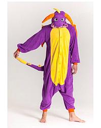 (S, XL) Кигуруми фиолетовый дракон (взрослый) v2393