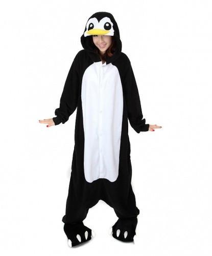 (S, XL) Кигуруми пингвин черно-белый (взрослый) v2400