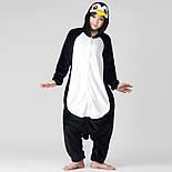 (S, XL) Кигуруми пингвин черно-белый (взрослый) v2400, фото 3