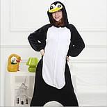 (S, XL) Кигуруми пингвин черно-белый (взрослый) v2400, фото 4