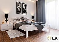 Деревянная кровать Италия с ковкой ЧДК, фото 1