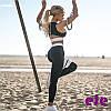 Костюм для фитнеса женский топ и лосины черный,Одежда для йоги и фитнеса