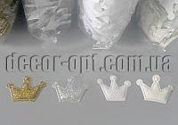 Тканинна заготівля корона глитер 2,5х2,0см/1000шт патч