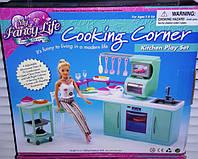 Мебель для кукол Gloria Глория 2816 Современная кухня Барби плита, духовка, мойка