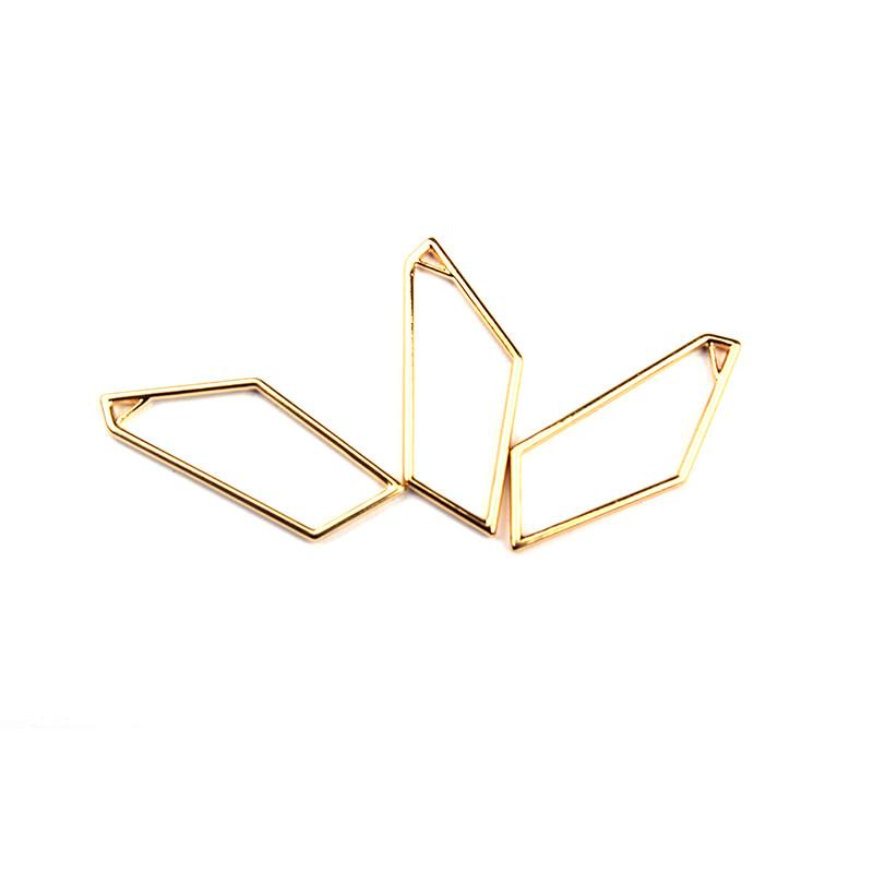 Набор подвесок для заливки эпоксидной смолы, Кристалл, металл, цвет золото, 2шт.