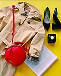 Женская кожаная сумочка круглой формы Galvani COMO, фото 6